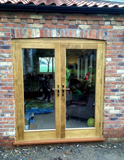 Stained Accoya Double Doors