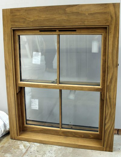 Stained Accoya Box Sash Window