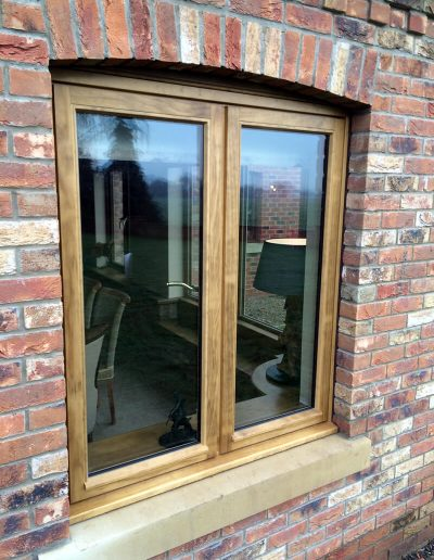 Stained Accoya Stormproof Casement Window