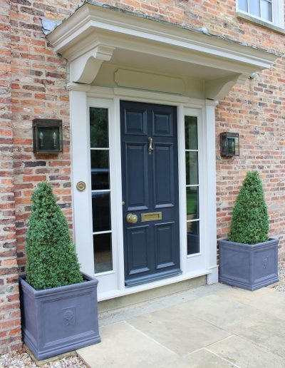 6 panel entrance door with bolection moulds