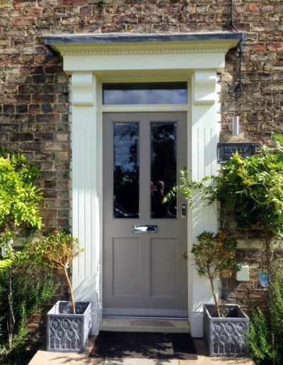 Victorian style door and portico surround