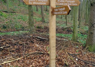 Durham County Council Footpath Signpost