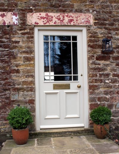 Half glazed door with margin bars