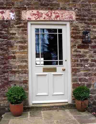 Half glazed door with margin bars