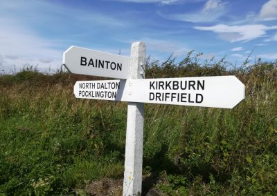 East Riding road sign