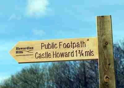 Howardian Hills Castle Howard Footpath Sign