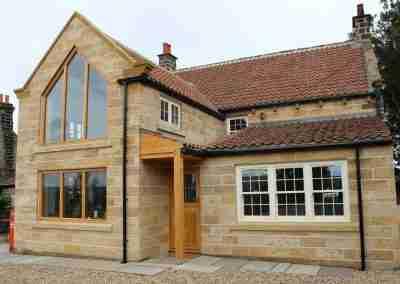 Oak gable end frames