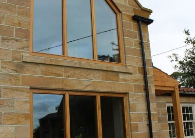 Oak gable end frames