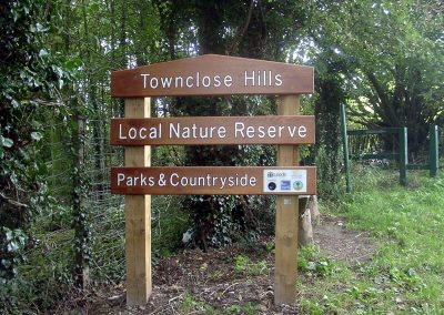 Local Nature Reserve sign stack