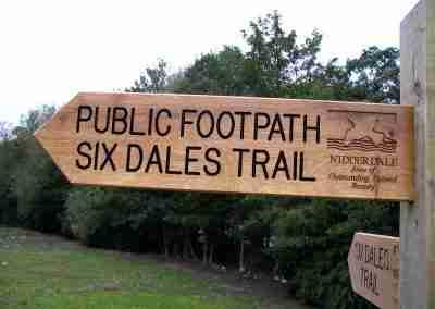 Nidderdale footpath signs