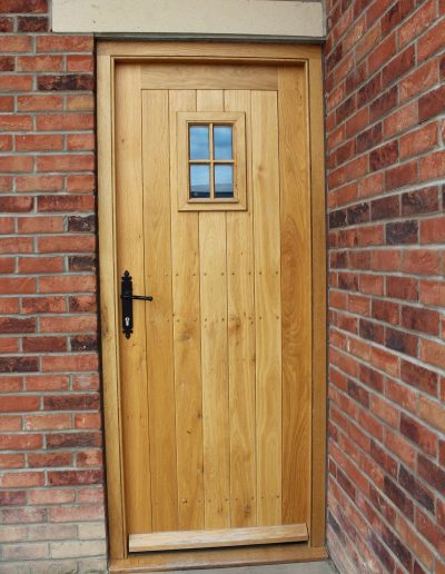 Oak farmhouse door