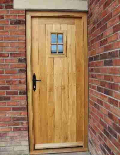 Oak farmhouse door