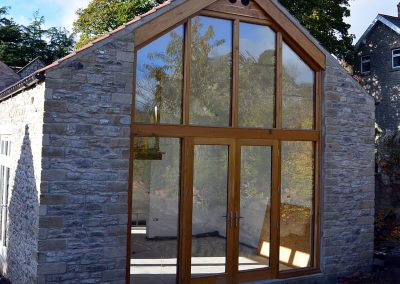 Oak gable end frame