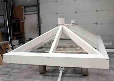 Orangery roof lantern during manufacture