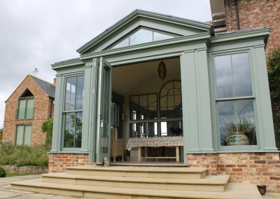 Bi-folding doors to garden room