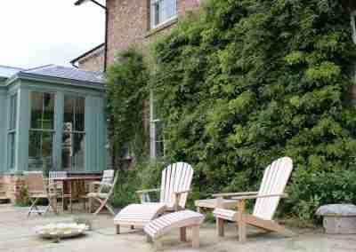 Painted wooden garden room
