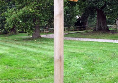 Sign post at Duncombe Park Bird of Prey Centre