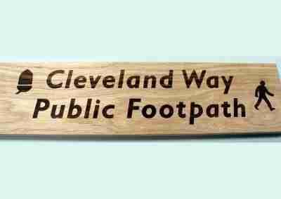 Laser Engraved Cleveland Way Sign