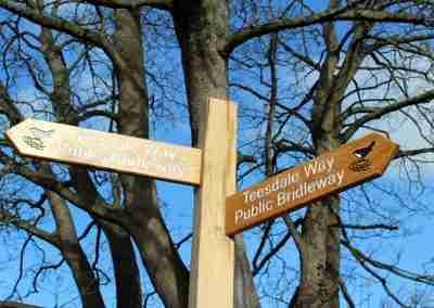 Teesdale Way Public Bridleway Signpost