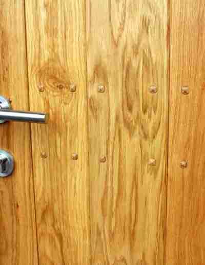 Contemporary boarded oak door