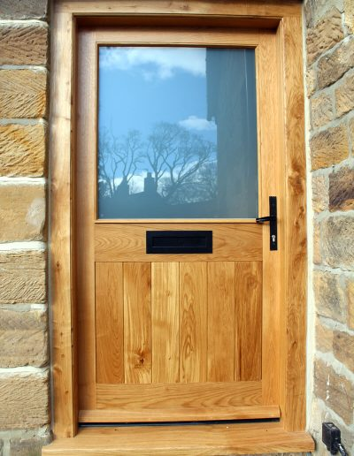 Half glazed oak door