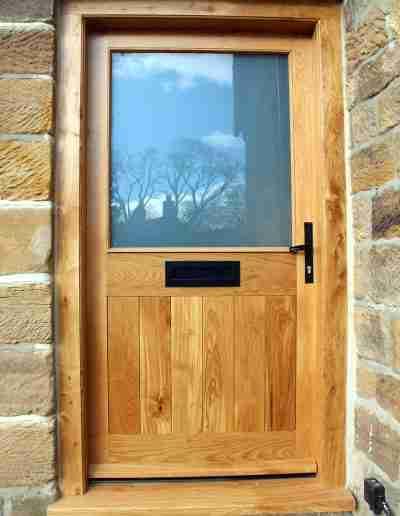 Half glazed oak door