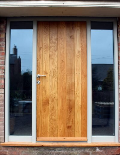 Contemporary boarded oak door