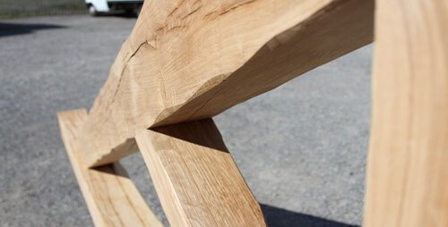 King post truss detail