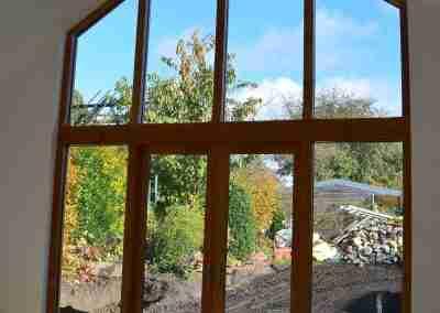 Oak gable frame