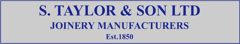 S. Taylor and Son web logo