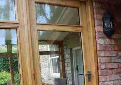 Oak sunroom door