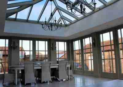 Traditional orangery interior