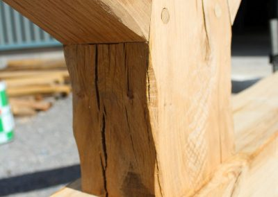 Oak King Post Truss detail