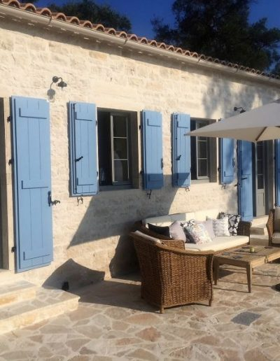 Accoya casement windows in Greek Villa