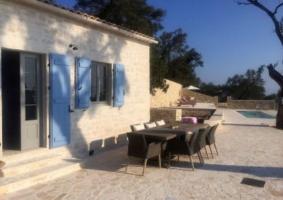 Accoya casement windows in Greek Villa