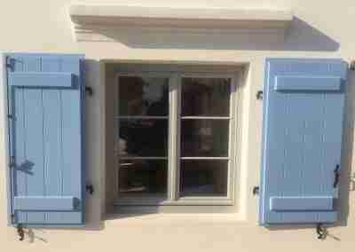 Accoya casement window in Greek Villa