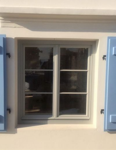 Accoya casement window in Greek Villa