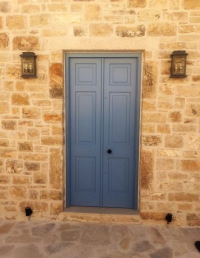 Accoya doors in Greek Villa