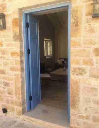 Accoya doors in Greek Villa
