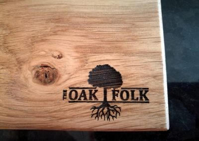 The Oak Folk laser engraving