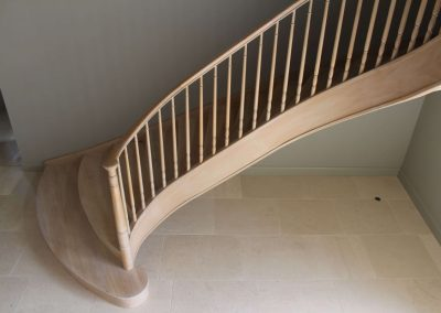 Bespoke curved oak stairs