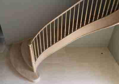 Bespoke curved oak stairs